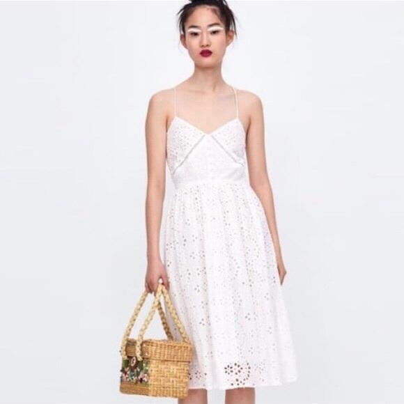Zara Dresses & Skirts - NWT Zara Eyelet Lace Midi Dress
